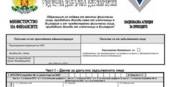 Данъчните декларации са публикувани на сайта на НАП
