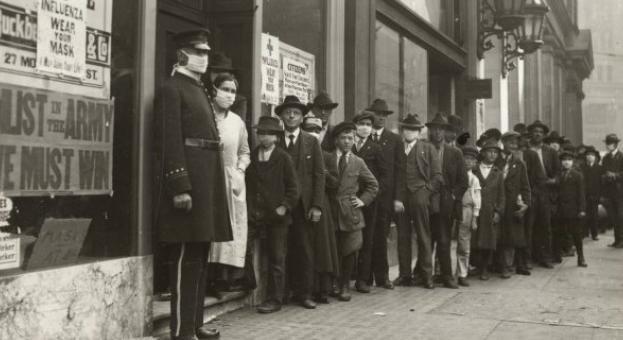 Животът по време на испанския грип през 1918 г.
