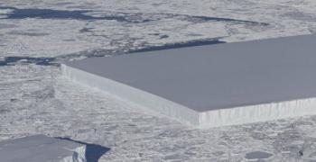 Правоъгълен ледник засече НАСА