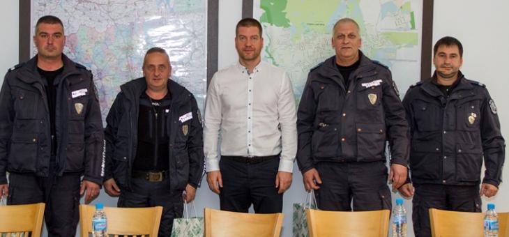 Старозагорски полицаи с награда от кмета Живко Тодоров