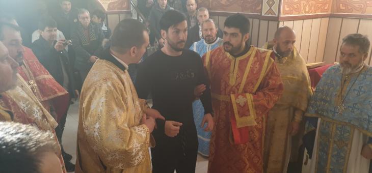 Митрополит Киприан служи в Старозагорския затвор