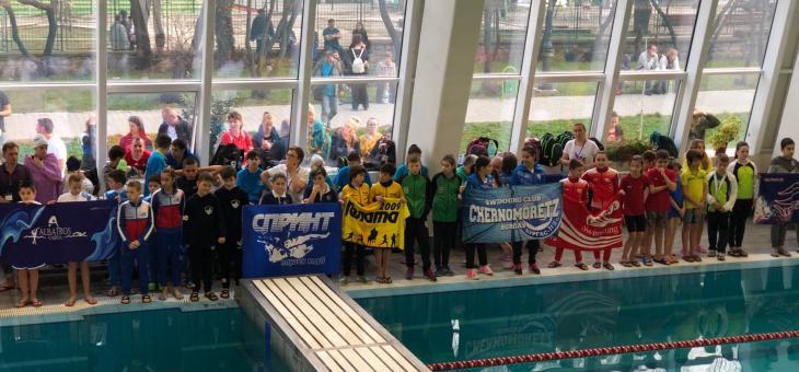 """Близо 400 малки плувци участваха в турнира """"Русалка"""" в Стара Загора"""
