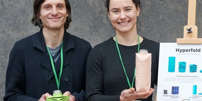 Сгъваема бутилка срещу пластмасовите замърсители