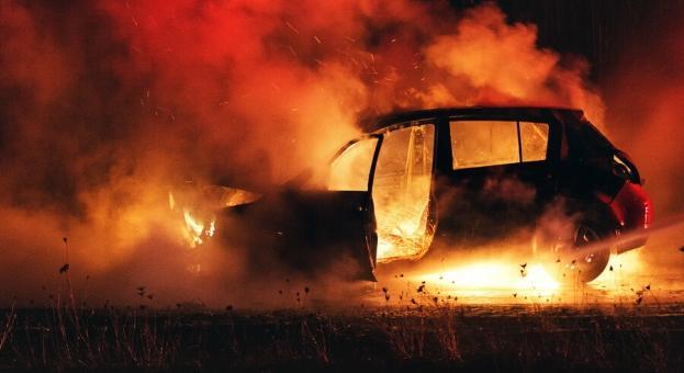 Намериха изгорял джипа, с който са избягали извършителите на грабежа в Перник