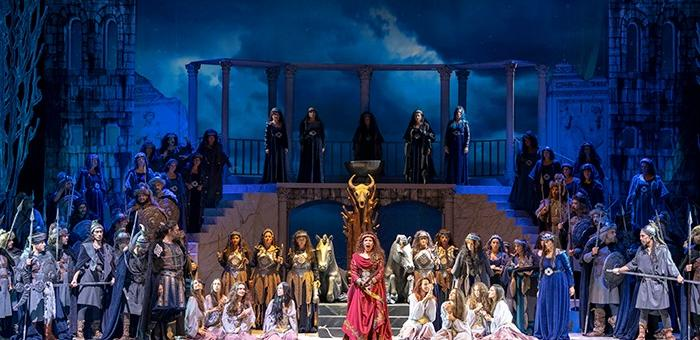 """Операта """"Атила"""" на сцената на Античния форум в Стара Загора"""