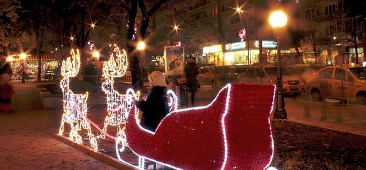 Тази вечер палят светлините на Коледната елха в Стара Загора