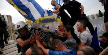 Гърци блокираха пътища заради подписания договор между Гърция и Македония