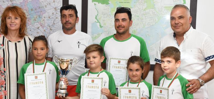 Старозагорски деца станаха шампиони по тенис на корт