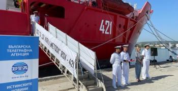 Мария Бакалова стана кръстница на български научноизследователски кораб