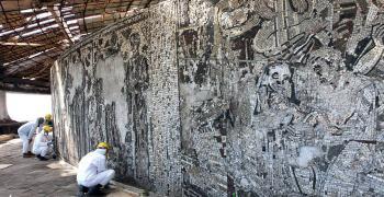 Фондация започна дейности за опазването на мозайките от външния кръг на паметника Бузлуджа
