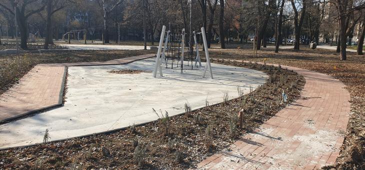 Напредва ремонтът на Станционната градина в Стара Загора