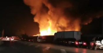 Голям пожар в зеленчукова борса