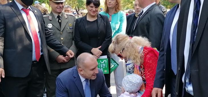 Президентът Румен Радев в Стара Загора: Трябва да бъдем безкомпромисни в опазването на човешкия живот и здравето на децата ни